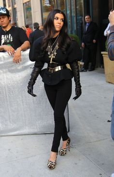 Kourtney Kardashian---hey I almost wore that, then I realized I wasn't going to be in a Cher or lady gaga video!