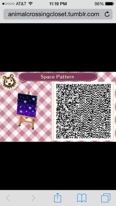 Animal Crossing New Leaf QR Code Space Pattern #2