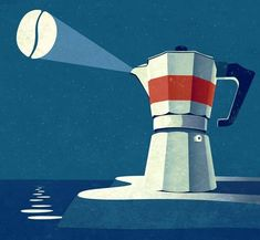 Coffee Lighthouse Poster / Bialetti / With coffee bean sign like batman / Creative ocean art, coffee house art Coffee Illustration, Illustration Artists, Coffee Cafe, Coffee Shop, Coffee Truck, Starbucks Coffee, Coffee Drinks, Escalier Art, Photo Images
