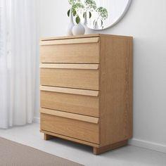 怡然宜家IKEA 奥普兰 4屉柜(80x102 褐色/橡木贴面)专业代购
