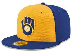 big sale ba0f3 cc55a Milwaukee Brewers New Era MLB 2016 Diamond Era 59FIFTY Training Cap