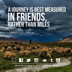 A journey is best measured in friends rather then miles. - aakashranison.com  Tags: #quote #quotation #dailyquote #quoteoftheday #motivation #inspiration #thoughts #thought #wanderlust #keepmoving #travel #traveller #travelling #india #indore #travelblog #travelpreneur #entrepreneur #socialpreneur #startup #photoblog #aakashranison #indore #tourist #journey #friends #miles  ___________________________________________________  Read/Write me @ www.aakashranison.com/blog…
