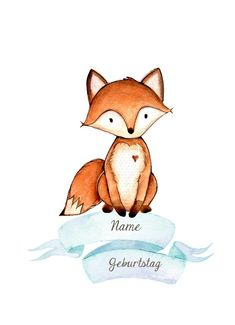 Name picture Fuchs children& poster for birth children& picture print forest animals . Name picture Fox Children& poster for birth Children& picture print forest animals Name Pictures, Print Pictures, Fuchs Illustration, Baby Zimmer, Diy Crafts To Do, Arte Sketchbook, Happy Paintings, Diy Tattoo, Forest Animals