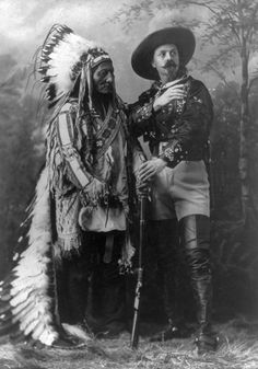Sitting Bull and Buffalo Bill, ca. 1885