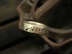 """""""Pierced band Ring 3""""   ///      Silver Ring    ///      Created by Brittany Foster"""