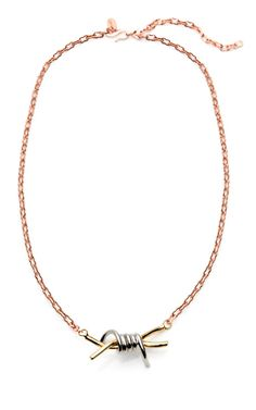 Shop Tri-Tone Barbed Wire Necklace by Rodarte Now Available on Moda Operandi