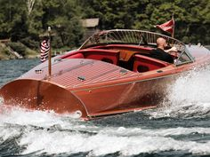 Hacker-Craft Sterling boats combine cutting edge technology with the classic wooden styling of the 1940s.