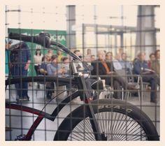 Spike behind bars. #custom #bicycle #black #badass #bars #jail #spike