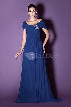 Elegant A-line Off-the-Shoulder Special Floor-length Taline's Mother of the Bride Dress