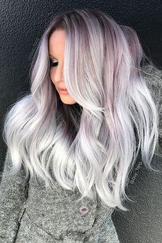 You Can Now Get The Coolest Hair Color In L.A. — Wherever You Live  - Icy Lavender #refinery29