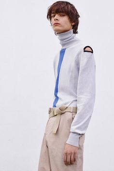DETAILS | MENSWEAR | CUT OUT | COLOUR | ANDROGYNOUS | TURTLENECK | DESIGN | FASHION | GQ | STREETSTYLE | MEN | John Galliano Spring/Summer 2016 Lookbook