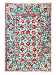 Suzani Hand-Knotted Wool Rug by Solo Rugs at Gilt