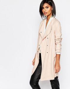 Sisley Lightweight Trench Coat in Light Pink