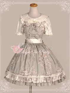 Sweet Straps Neck Pleated Pure Cotton Cute Lolita Jumper Skirt