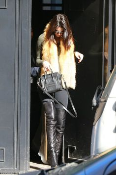 Doing what she does best! Kendall Jenner continued with her fashionable display as she hit...