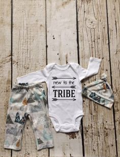 Baby Boy Coming home Outfit,New to the Tribe, newborn boy coming home outfit, woodland boy outfit by cobaltandcoral on Etsy https://www.etsy.com/listing/484260652/baby-boy-coming-home-outfitnew-to-the