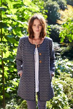 Nomads Cotton Handloom Jacket - Midnight - Nomads - A gorgeous fair trade jacket that has been hand woven, the perfect ethical jacket for summer. #FairTrade #BAFTS