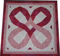 Hearts Wall Hanging made using AccuQuilt Go Storm at Sea pattern