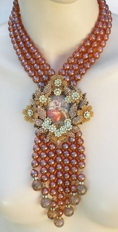 stanley hagler vintage jewelry | Stanley Hagler N.Y.C. Vintage 80's Necklace…