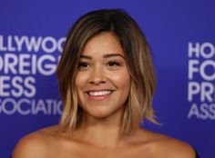 Gina Rodriguez looks like a minimalist goddess in this risqué LBD