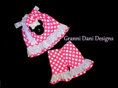 Minnie Mickey Mouse Outfit Set Birthday Polka Dot Baby Toddler Girl Pink White   eBay