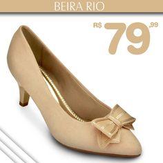 Scarpin Beira Rio de R$$ 100,00 por apenas R$79,99! COMPRE ONLINE!!!