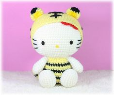 Amigurumi Hello Kitty in Chinese Zodiac Cosplay  Tiger by furinn, $27.00