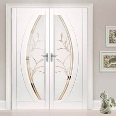 Gemini pvc french door pair with a beautiful twilight style glazing design and no more painting. - June 22 2019 at Door Design Interior, Main Door Design, Interior Design Elements, Front Door Design, Interior Barn Doors, Exterior Doors, Metal Walls, Metal Wall Art, Inside Barn Doors