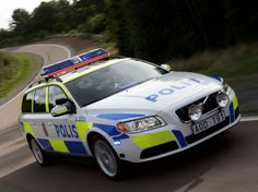 Cop Car Burnout With A Volvo Wagon