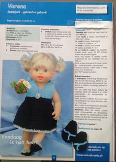 poppenkleertjes breien of haken - Bing images Barbie Clothes Patterns, Doll Patterns, Clothing Patterns, Knitting Patterns, Baby Born Clothes, Crochet Doll Clothes, Crochet For Kids, Vintage Dolls, Baby Dolls
