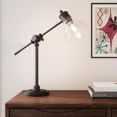 Hampton Bay 18.25 in. Oil Rubbed Bronze Counter Balance Desk Lamp 22168-000 - The Home Depot