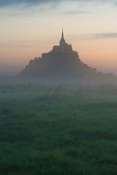 Beautiful Mysterious Places...Mont Saint-Michel, France, photo by Zed The Dragon via Flickr.