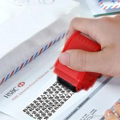 The Identity Protection Roller stamp applies a special encrypted ink pattern that makes confidential information such as your address, social security number, account number and more, completely unreadable. Hotel Door Locks, Prescription Bottles, Dishwashing Gloves, Identity Protection, Led Balloons, Roller, Incense Cones, Incense Holder, Shopping