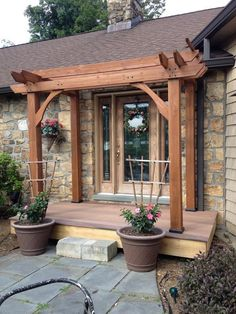 Pergola, once popular in Italian Renaissance, are an admirable let-up from heat during burning summer. To talk about the construction, pergola is not as complicated as it sounds. Vinyl Pergola, Pergola Curtains, Small Pergola, Pergola Swing, Pergola Attached To House, Metal Pergola, Deck With Pergola, Cheap Pergola, Wooden Pergola