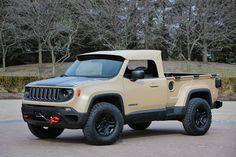 2016 Jeep Comanche Concept: A nod to Jeep pickup trucks of years past the Comanche concept is based on the Renegade Trailhawk. Designed off-road ready with practical utility Comanche is the right tool for any job any place anywhere. by jeepofficial
