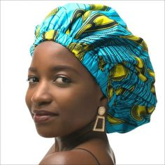 XL satin lined sleep bonnet in Ankara print; protects your curls,coils and locs at night and is also gorgeous to wear during the day. Lined with soft satin and combined with a unique colourful african print. How To Grow Natural Hair, Natural Hair Styles, Big Hair, Your Hair, Ankara Styles For Women, Voluminous Hair, Surgical Caps, Womens Scrubs, Very Short Hair