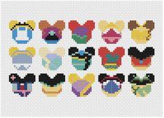 bead weaving patterns for bracelets Perler Bead Designs, Perler Bead Templates, Hama Beads Design, Pearler Bead Patterns, Diy Perler Beads, Perler Bead Art, Perler Patterns, Disney Hama Beads Pattern, Disney Cross Stitch Patterns