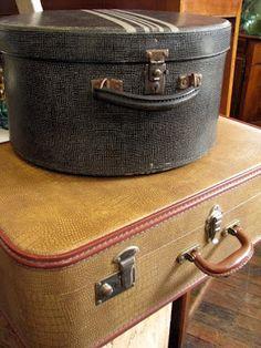 A vintage hat box