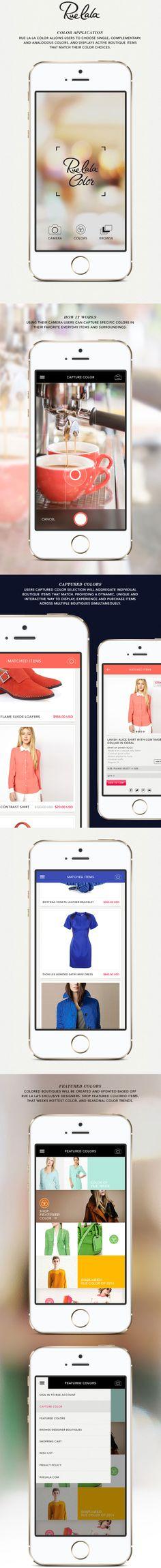Rue La La Color Mobile App (Concept)