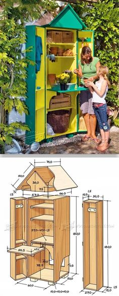 Garden Shed Plans - Outdoor Plans and Projects | WoodArchivist.com