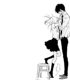 What manga pleasee Anime Neko, Anime Kawaii, Manga Anime, Art Anime, Manga Couple, Anime Love Couple, I Love Anime, Cute Anime Couples, Photo Manga