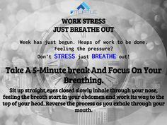 Monday Is Here. Don't Let The Pressure Take Control Of You. #DontStressJustBreathe #StayFit #StayMotivated #StayHealthy #Breathe #DontStress #FitnessForLife #NoCompromise #WorkWithEase #Relax #TensionRelease #TakeABreak #InhaleTheMoivation #ExhaleTheTension