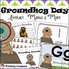 Will the Groundhog see it's shadow this February? The suspense is too much to take! Use literacy (ELA) and Maths to bring the fun and suspense to the classroom and centers. All activities suitable for school, daycare or homeschool use. Groundhog Day Activities, Math Activities, Prek Literacy, Early Childhood Education, Maths, Homeschool, Teaching, Preschool Ideas, Classroom Ideas