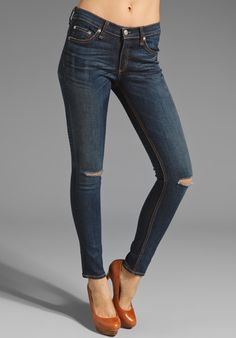 RAG & BONE/JEAN The Skinny in Hampstead with Holes at Revolve Clothing - Free Shipping!