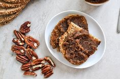 Roasted Pecan Pumpkin Butter  YIELD: ABOUT 1 1/3 CUPS PREP TIME: 10 MINUTES COOK TIME: 15 MINUTES (TO ROAST PECANS) TOTAL TIME: 35 MINUTES