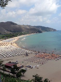 Sperlonga beach near Rome, Italy