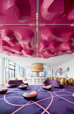Lobby lounge at Music & Lifestyle Hotel nhow Berlin. © Mattias Hamren
