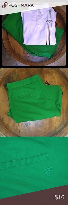 FILA SPORT GREEN GOLF SHORTS FILA SPORT GREEN GOLF SHORTS. In like new condition. Size 38. Fila Shorts