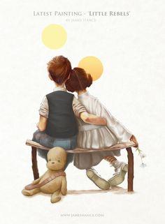 Childhood: Han Solo and Princess Leia