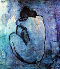 Pablo Picasso, Nu féminin assis de dos 1902 on ArtStack #pablo-picasso #art